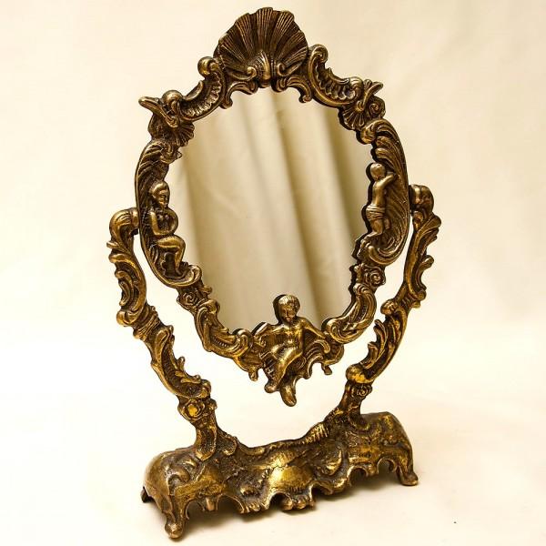 Классическое Настольное Будуарное Зеркало, Бронза, Франция, начало ХХ века.