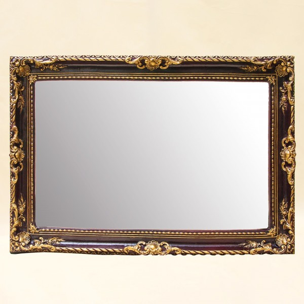 Настенное Зеркало в Старинной Прямоугольной раме 71 см. х 49 см. Франция.