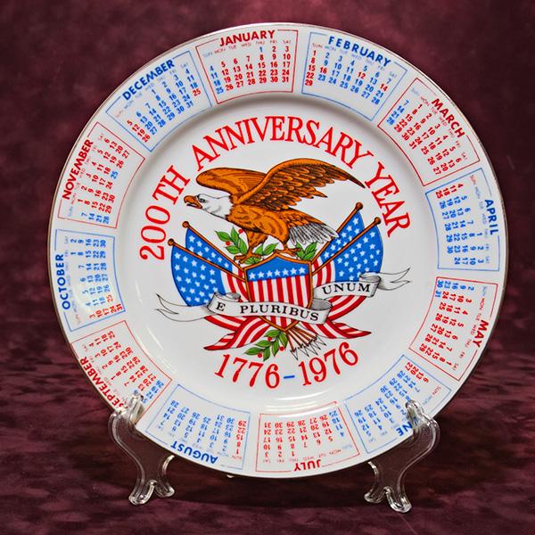 Тарелка Фарфор 200 лет США - 1976г. d - 23,5 см.