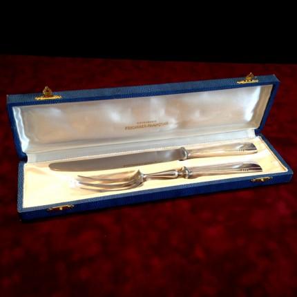 Набор «Новогодний» для мяса Нож+ Вилка Silverplate Франция