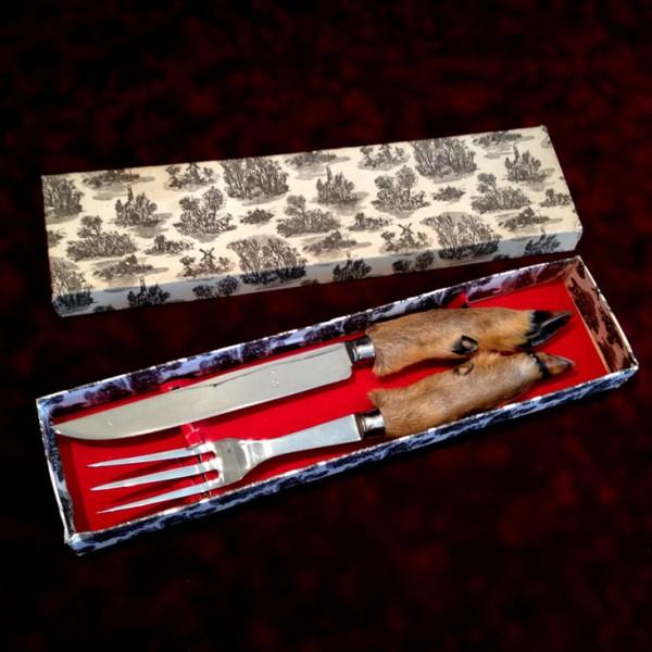 Набор N21 для мяса Нож+Вилка Козья ножка Охота