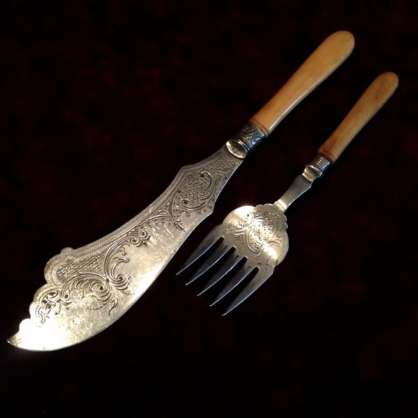Набор N3 для подачи блюд Нож+Вилка Silverplate