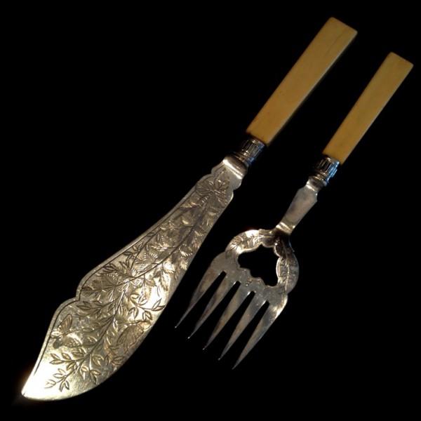 Набор N2 для подачи блюд Нож+Вилка Silverplate
