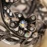 Браслет женский «БЕЛАЯ БАБОЧКА» Бижутерия, Франция, d - 5 см.