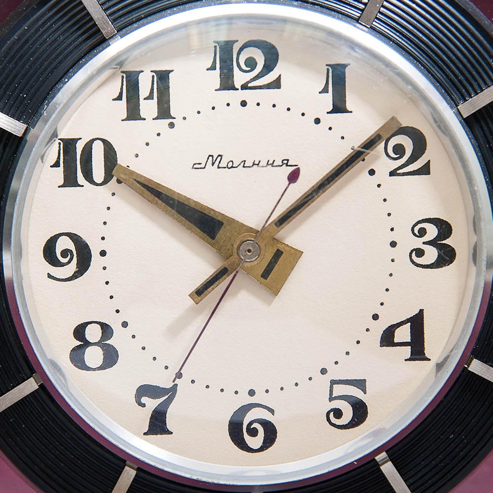 92701d02 Винтажные Настольные Механические Часы «МОЛНИЯ» - ЧЧЗ - СССР - 1965 год.
